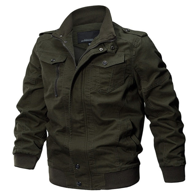 2020 Plus Size Military Jacket Men Spring Autumn Cotton Pilot Jacket Coat Army Men's Bomber Jackets Cargo Flight Jacket Male 6XL