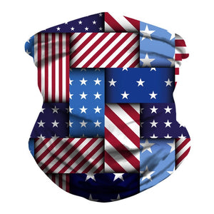 Flag 3D Outdoor Bandana Cycling Scarf Dustproof Neck Gaiters Tube Hiking Scarves Sports Camping Bandanas Mouth Protection Scarf