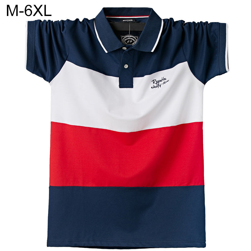 Men's POLO Shirts Brand Cotton Short Sleeve Camisas  solid embroidery Polo Summer Stand Collar Male Polo Shirt plus size S- 6XL