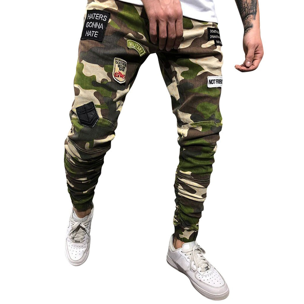 Men's Fashion Camouflage Casual Pants Long Jeans