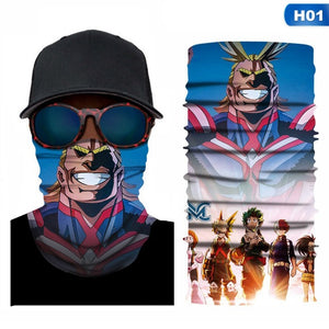 My Hero Academia Riding Sport Scarf Outdoor Neck Hand Bandana Camping Neck Gaiters Scarves Multi Function Cycling Bandanas Scarf
