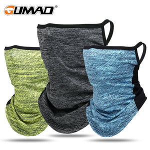 Triangle Bandana Face Tube Scarf Neck Gaiter Cover Ice Silk Hang Ear Scarves Sport Fishing Head Bandage Running Hiking Men Women