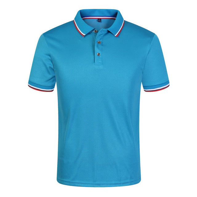 New Casual Summer Polo Shirts Men 9 Color Solid Short Sleeve Breathable Anti-Pilling Polos masculina hombre Plus Size S-3XL