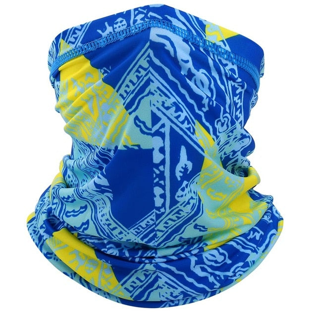Breathable Neck Cover Gaiter Bandana Face Tube Scarf UV Sun Protection Quick-dry Stretch Hiking Camping Cycling Women Men Summer