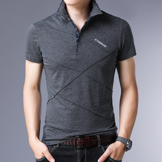 JANPA Style 2019 Brand Casual Polo Shirts Short Sleeve Men Summer Cotton Breathable Tops Tee ASIAN SIZE M-5XL 6XL
