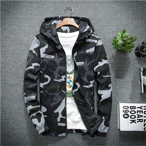 Mountainskin Men's New Jackets Spring Autumn Casual Coats Hooded Jacket Camouflage Fashion Male Outwear Brand Clothing 5XL SA637