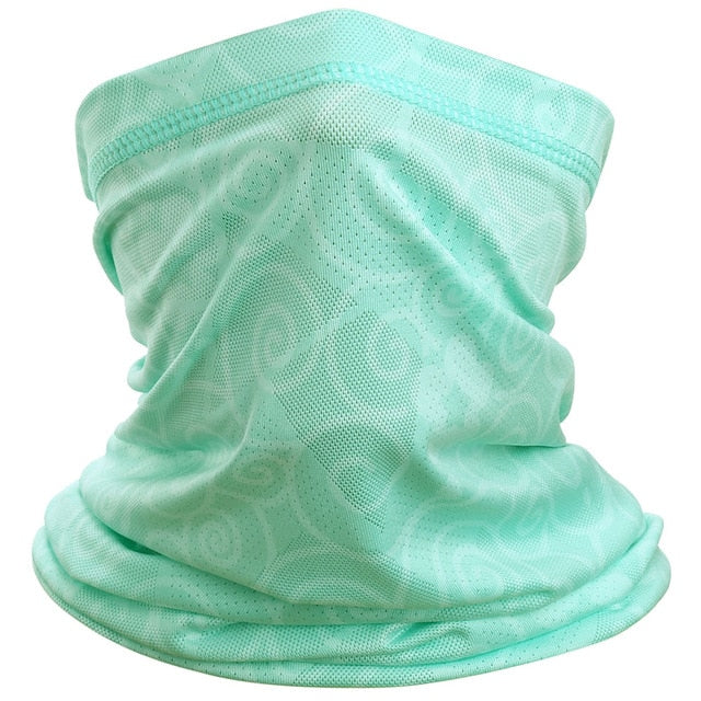 Breathable Mesh Bandana Head Tube Scarf Neck Gaiter Cover Quick-drying Stretch Face Scarves Hiking Ride Cycling Running Girl Men