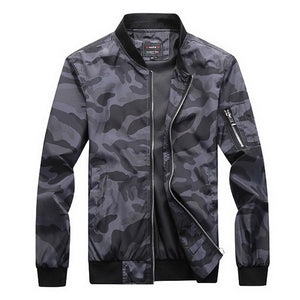 LOMAIYI Big Size 7XL Men's Spring Bomber Jacket Men Autumn Camouflage Jackets Male Military Coats Mens Camo Windbreaker BM303