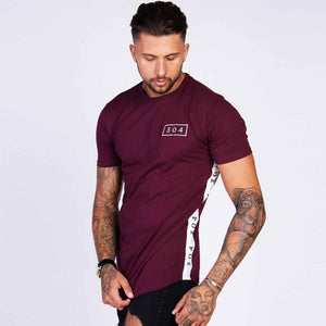 Men Cotton Short sleeve t shirt Fitness Slim Patchwork Black T-shirt Male Brand Gym Tees Tops Summer New Fashion Casual clothing
