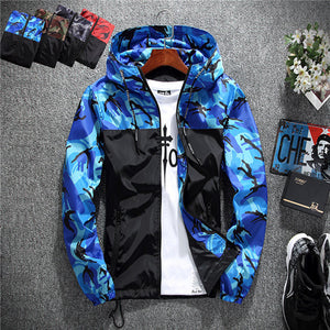 2019 Men's wear casual  camouflage jacket. of Slim handsome spring autumn casual solid color large size baseball clothes