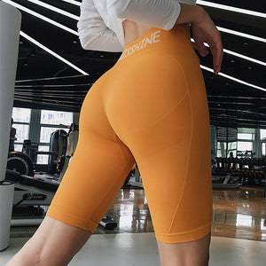 Women High Waist Energy Seamless Yoga Shorts Push Up Hip Gym Shorts Fitness Sports Leggings