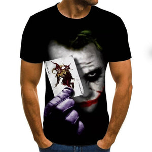 2020 hot-sale Clown 3D Printed T Shirt Men Joker Face Male tshirt 3d Clown Short Sleeve Funny T Shirts Tops & Tees XXS-6XL