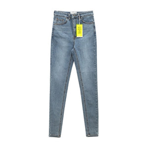 Women Jeans High Waist Stretch Denim Feet Pants 2020 Spring Was Thin And Hip But Comfortable Pencil Pants
