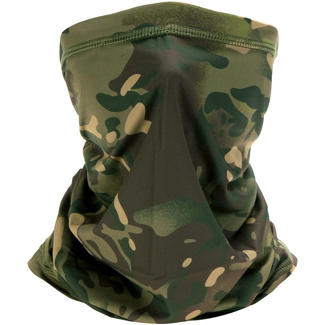 Camouflage Neck Gaiter Cover Tube Face Bandanas Sun Military Army Cycling Hunting Hiking Camping Scarf Bandana Tactical Scarves