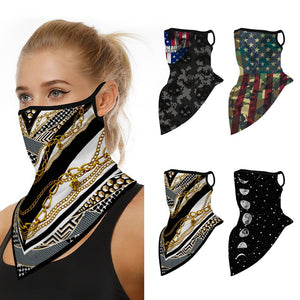 Bike Bicycle Cycling Face Mask Neck Gaiters Anti-dust UV Protection Men Women Motorcycle Face Cover Mask Bandana With Ear Loops