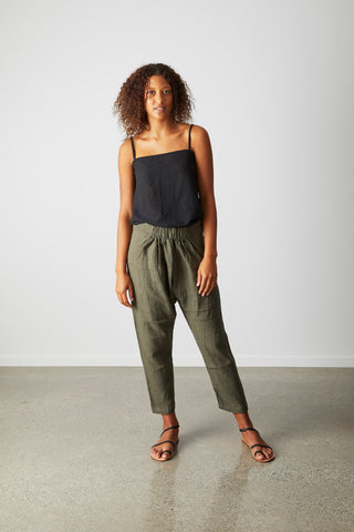 Enso pant- Jungle textured linen