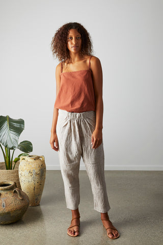 Enso pant- Natural textured linen