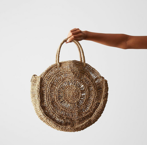 Seagrass Round Bag with strap