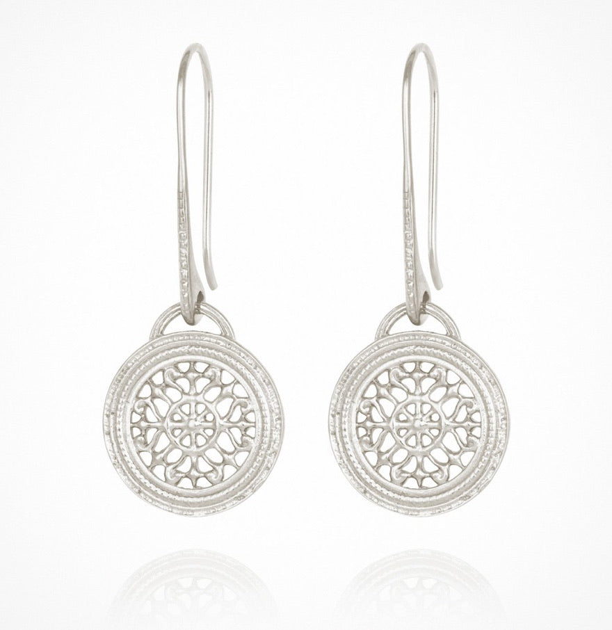 Temple of the Sun - Dafni Earrings Silver