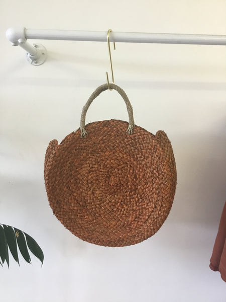 Seagrass Round Bag - Tan