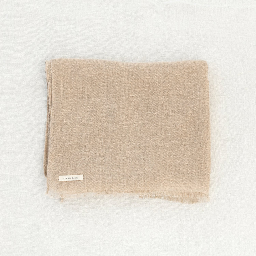 Plant based dyed linen scarf - Pure