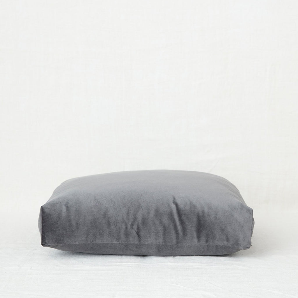 Velvet Meditation Cushion - Charcoal