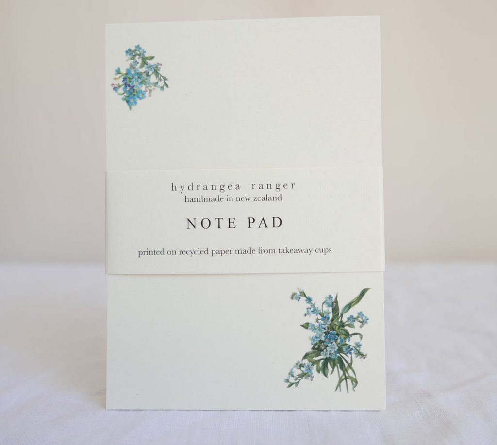 Floral Note Pads- Forget Me Not