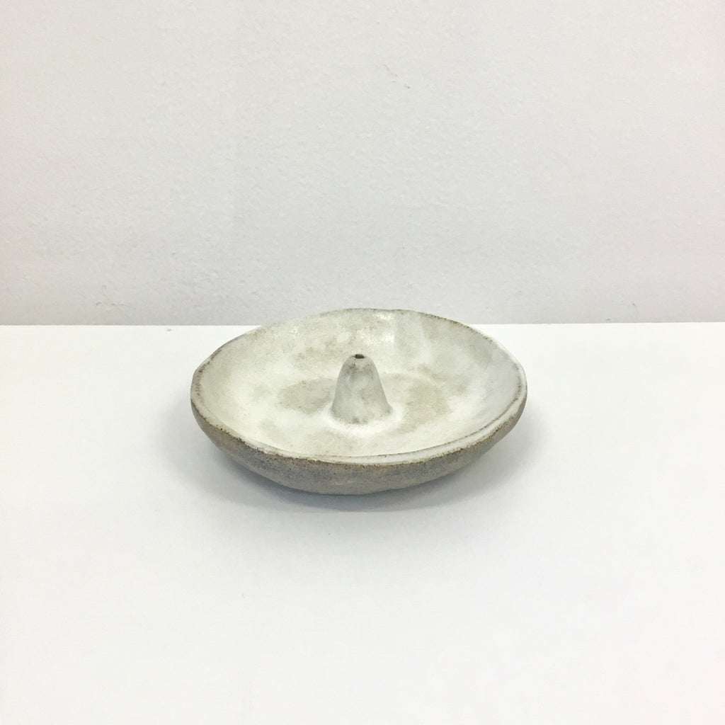 NZ Pottery Incense Holder - White