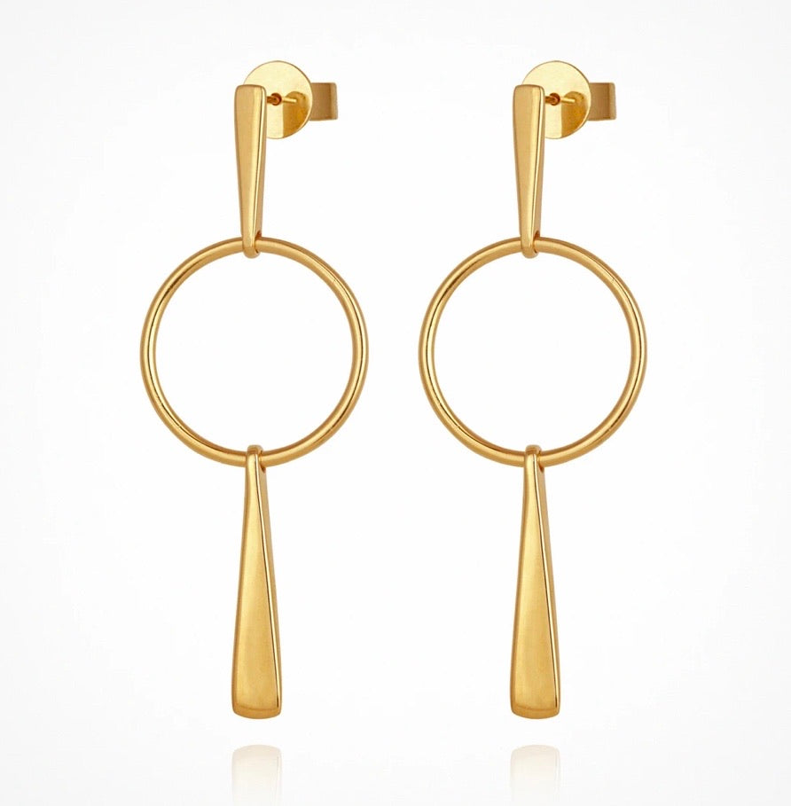 Temple of the Sun - Gold Iola Earrings