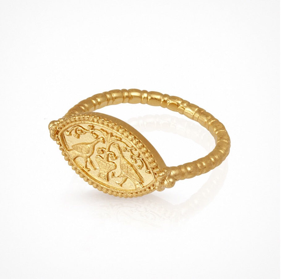 Temple of the Sun - Gaia Ring Gold