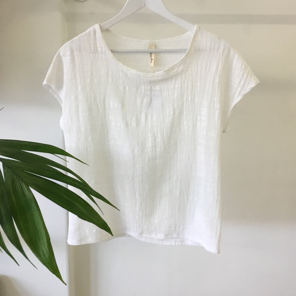 Uma tee - Linen/Cotton (Cream)