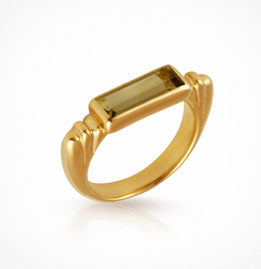Temple of the Sun - Phoebe Ring Gold