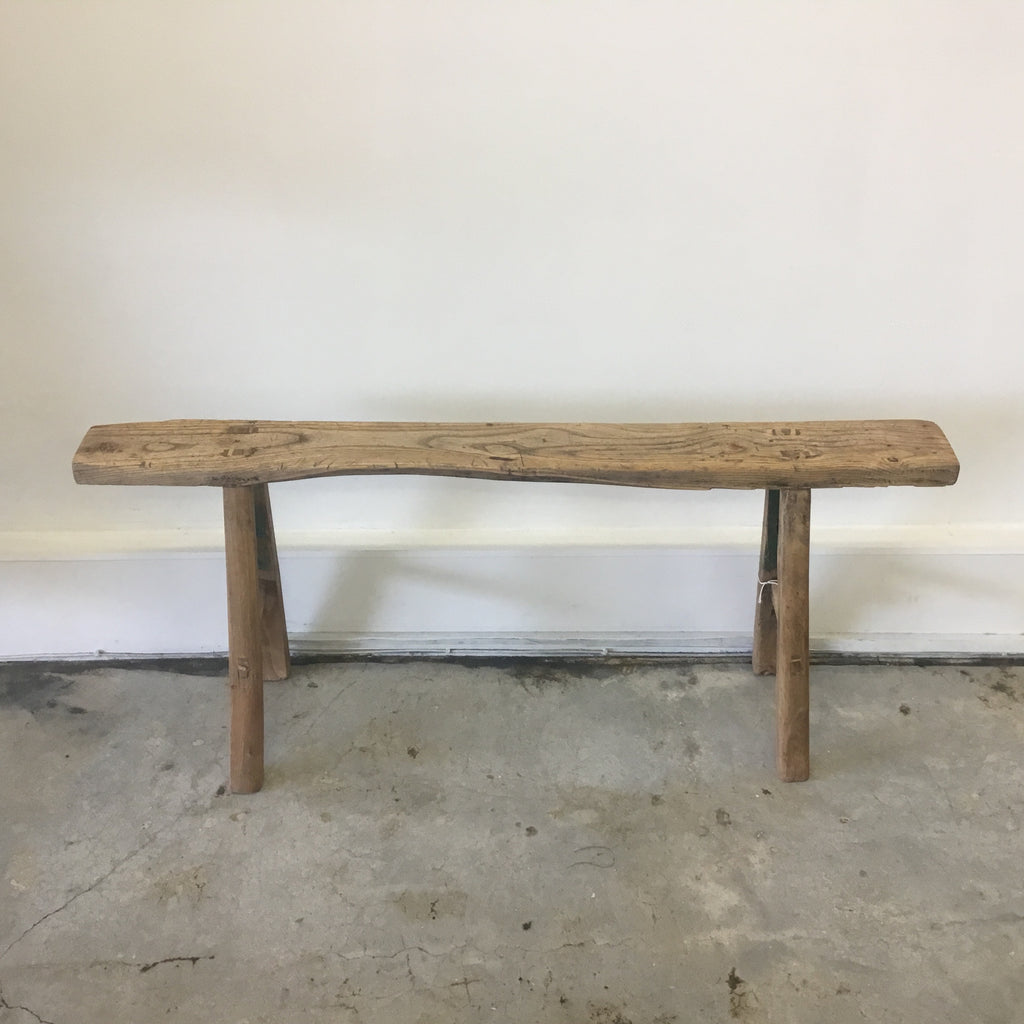 Original Wooden Peasant Bench 2