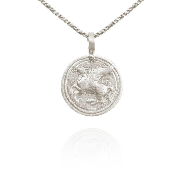 Temple of the Sun - Pegasus Necklace Silver