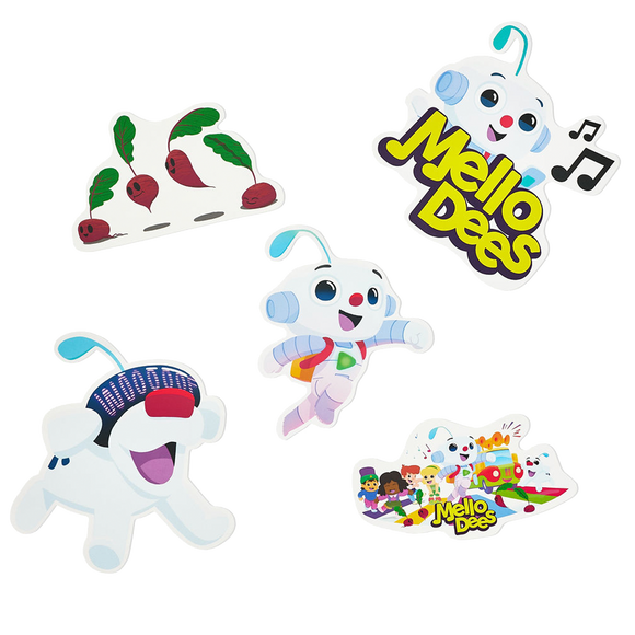 Mellodees Wall Cling Sticker Pack