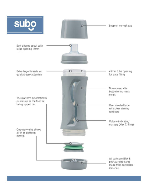 Subo Food Bottle Expanded View with Information