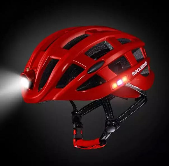 Helmet with Front and Back lights
