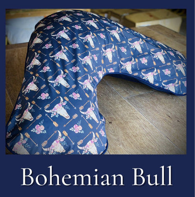 Boomerang pillow - Cover only Yoga bolsters and Floor Cushions - Assassinsdesigns Bohemian Bull