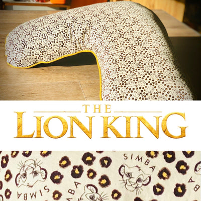 Boomerang pillow - Cover only Yoga bolsters and Floor Cushions - Assassinsdesigns Lion king - super soft fabric !