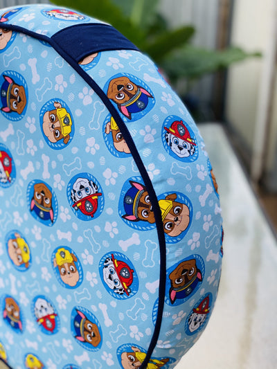 kids Floor Cushions made in Australia by assassinsdesigns Kids floor cushions , kids cushions Yoga bolsters and Floor Cushions - Assassinsdesigns 50cm Round Paw Patrol