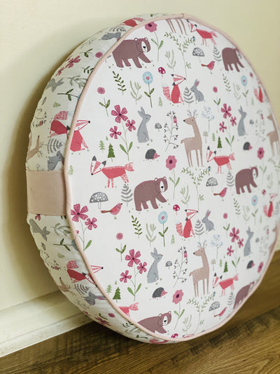 kids Floor Cushions made in Australia by assassinsdesigns Kids floor cushions , kids cushions Yoga bolsters and Floor Cushions - Assassinsdesigns 50cm Round woodlands