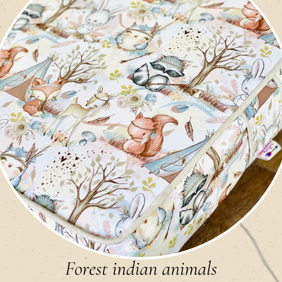 kids Floor Cushions made in Australia by assassinsdesigns Kids floor cushions , kids cushions Yoga bolsters and Floor Cushions - Assassinsdesigns 50cm Square Forest Indian animals