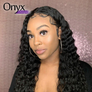 Brazilian Deep Wave Full Lace Wig - Human Remy Pre-Plucked