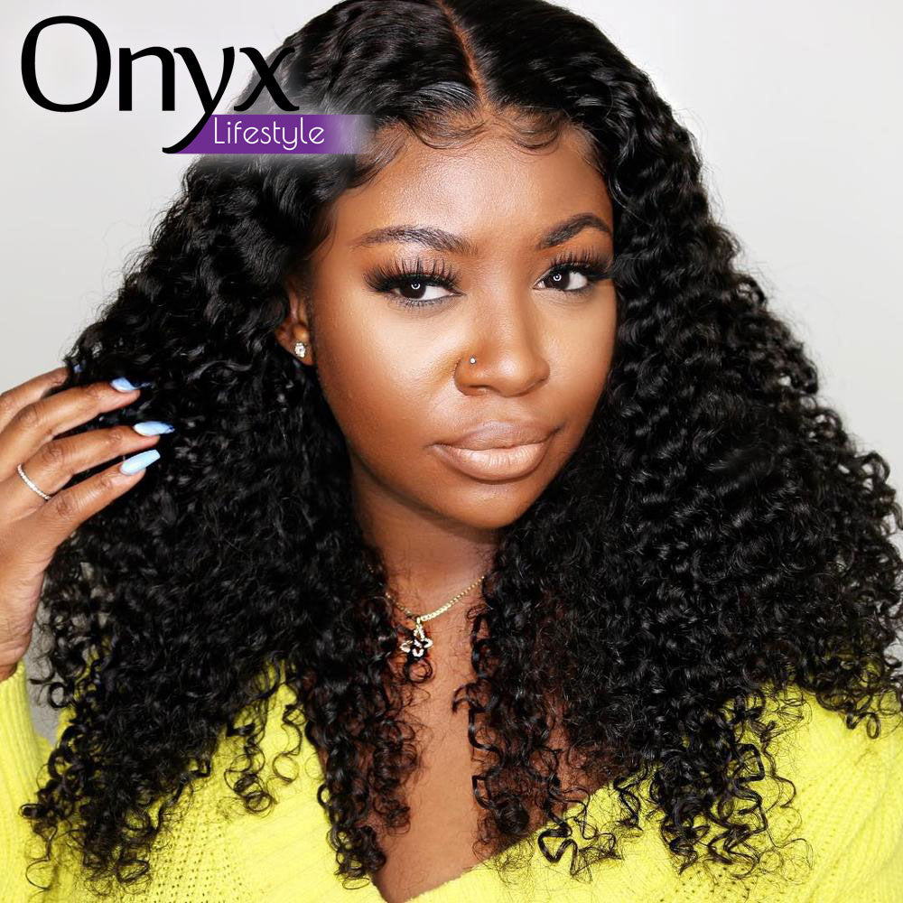 Indian Afro Kinky Curl 13x4 Lace Front Wig - Human Remy Pre-Plucked