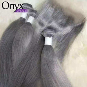 Bubblegum and Silver Brazilian Straight and Body Wave Bundles - Human Remy