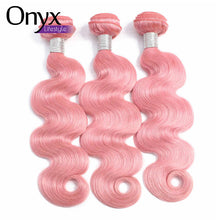 Load image into Gallery viewer, Bubblegum and Silver Brazilian Straight and Body Wave Bundles - Human Remy