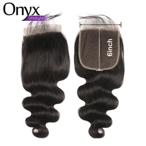 Brazilian Body Wave 6x6 Closure - Human Remy (Natural Color)