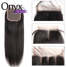 Load image into Gallery viewer, Brazilian Straight 4x4 Closure - Human Remy (Natural Color)