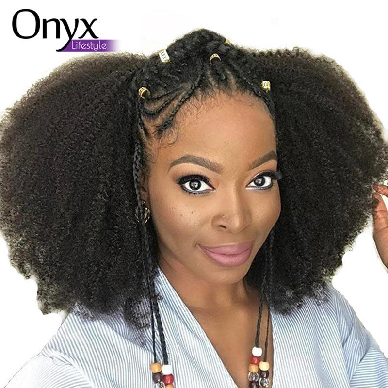 Mongolian Afro Kinky Curly Human Remy Pre-Plucked Full Lace (Natural Color)