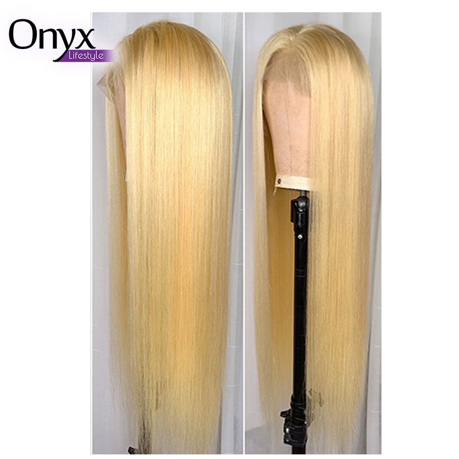 Blonde Brazilian Straight 13x4 Lace Front Wig - Human Remy Hair (613)